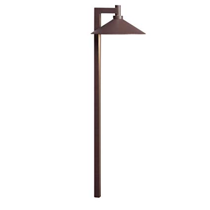 Kichler 15800AZT Ripley LED 12-volt Path and Spread Landscape Light, Textured Architectural Bronze Finish